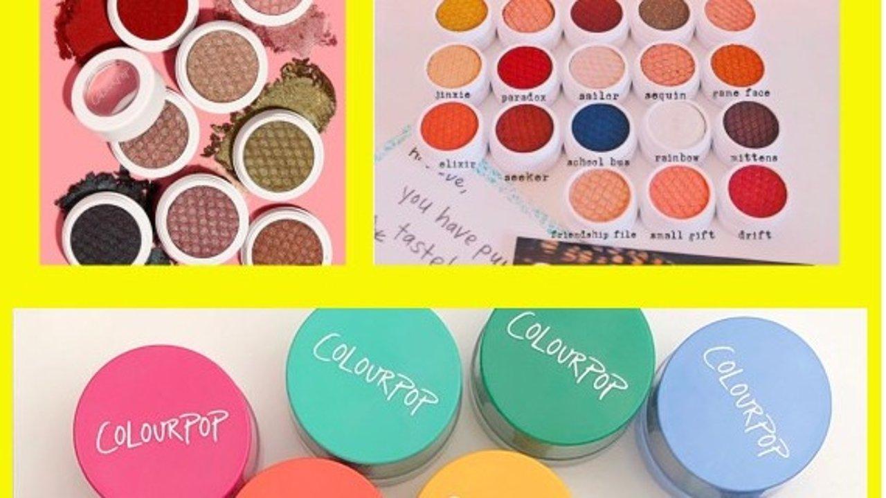 Colourpop超全眼影试色!你想要的颜色全都有 | 土豆泥·单色眼影&经典眼影盘