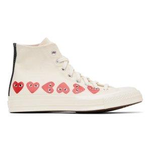 Comme des Garcons Play原定价$200匡威合作款帆布鞋 女款