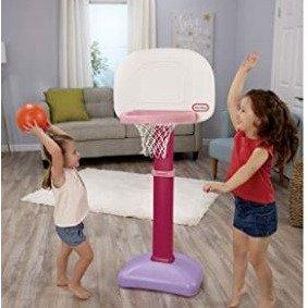 史低价 $27.97(原价$52.97)Little Tikes儿童篮球架套装 - 蓝黑色/粉紫色可选