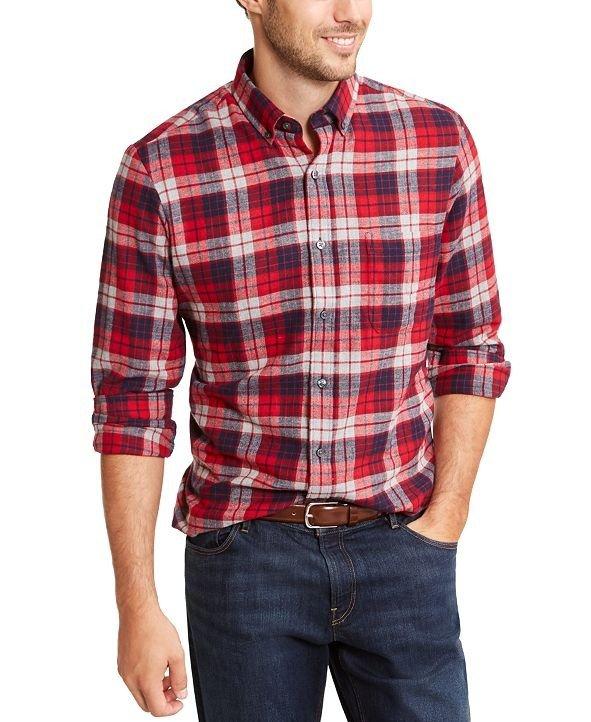 男士法兰绒衬衫