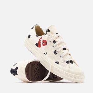 $140包所有税 (加拿大$200)CDG play x Converse 波点帆布鞋 罕见好价 男女同款