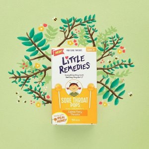 $2.99 + 包邮Little Remedies 儿童天然蜂蜜润喉棒棒糖 10支