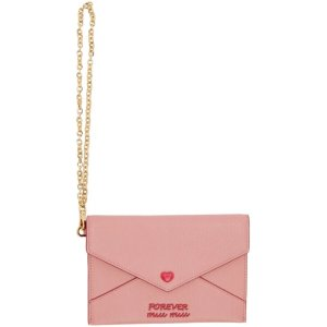6a085a7d77542a SSENSE offers valentine's day gifts idea Pink Items. Free shipping. Miu  Miu- Pink 'Love' Envelope Pouch