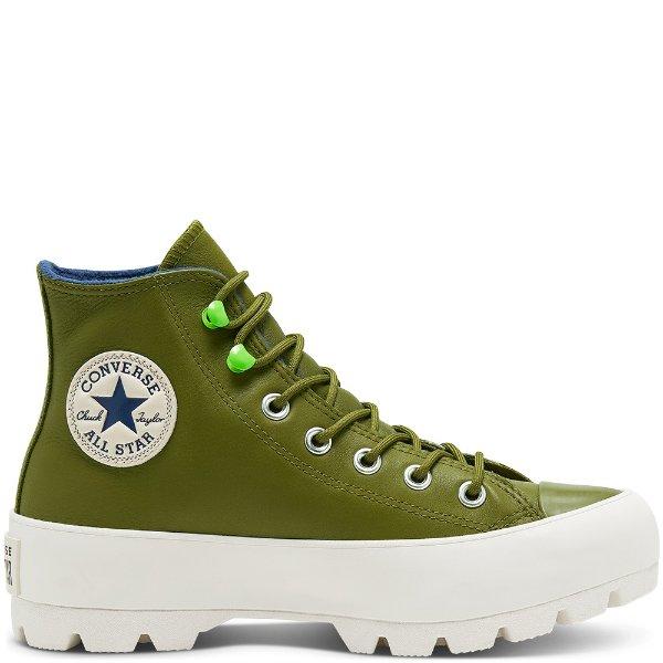 牛油果色厚底鞋