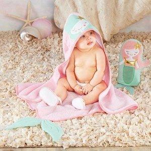 Baby Aspen小美人鱼浴袍礼盒