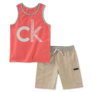 8acc648b19ee Calvin KleinBaby Boys 2-Pc. Graphic-Print Tank Top   Shorts Set.  14.93   50.00. Calvin Klein Baby ...