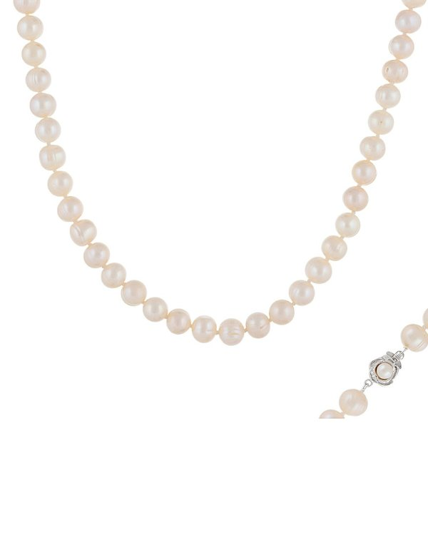 Silver 8-9mm 珍珠项链