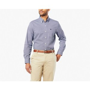 Signature Comfort Flex No Wrinkle Button-Down Shirt