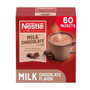 $11.21Nestle Hot Chocolate Packets, Milk Chocolate Flavor (60 Count)