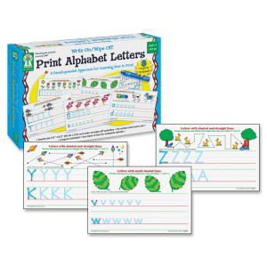 $9Carson-Dellosa Publishing 846035 Write-On/Wipe-Off Print Alphabet Letters Activity Set