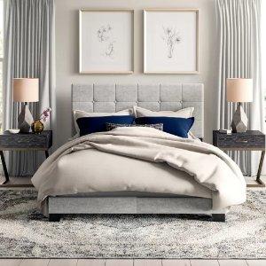WayfairCloer Upholstered Panel Bed