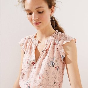 Up to 40% Off Selected Items Extra 50% OffLOFT Women's Summer Flora Top on Sale