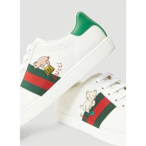 Gucci变相6.4折!国内价¥6100新款猫咪小猪小白鞋