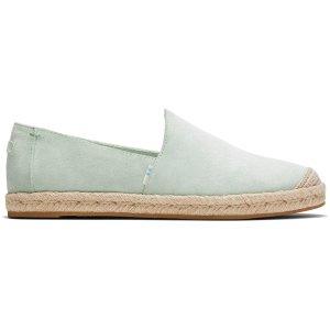 Toms薄荷绿渔夫鞋