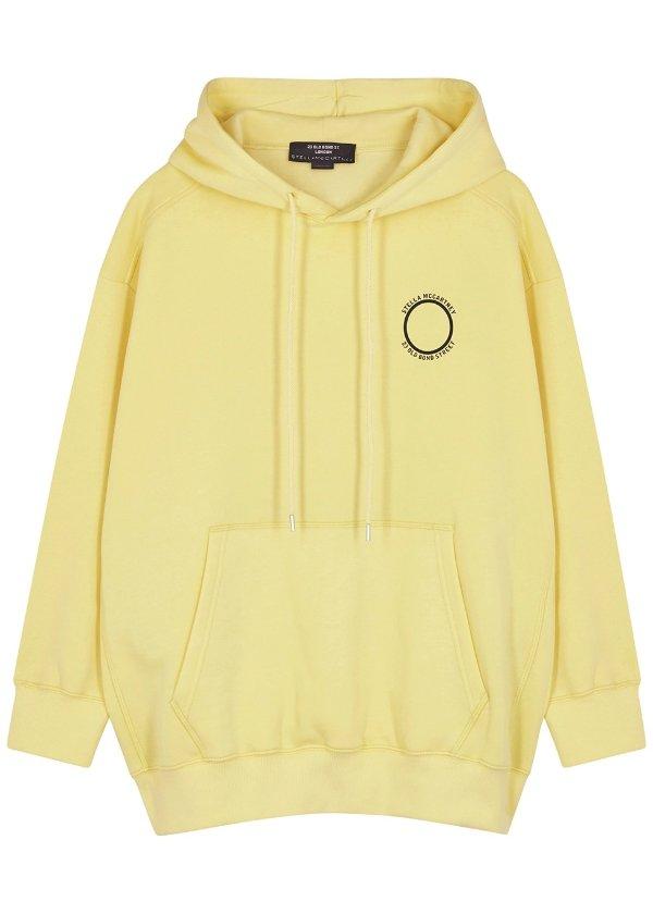 淡黄色logo帽衫