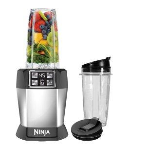 Ninja BL480D Blender, 32/24/18 oz, Black/Silver