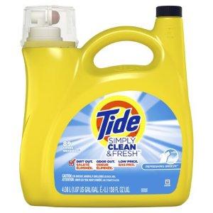 $8.94Tide Simply Clean & Fresh 洗衣液,138盎司