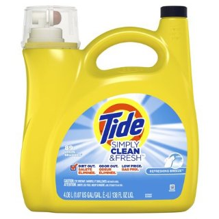 $9.87Tide Simply Clean & Fresh Liquid Laundry Detergent, Refreshing Breeze, 89 Loads 138 fl oz @ Walmart