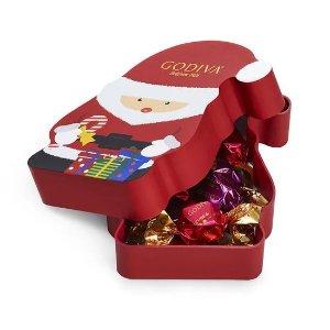 Godiva第2件5折,折后$4.98圣诞老人巧克力松露礼盒 8颗