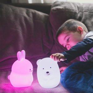 $22 包邮LUMIPETS 超萌小兔子、北极熊夜灯