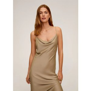 MangoDraped neckline dress - Women | OUTLET USA