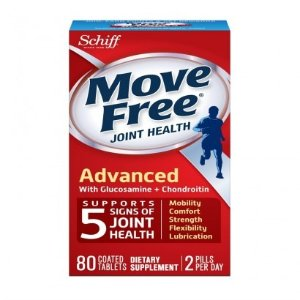 SchiffMove Free Glucosamine Chondroitin, Triple Strength, Coated Tablets, 80 tablets
