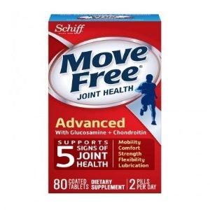 Schiff买1送1 Move Free 红瓶基础款维骨力 80粒