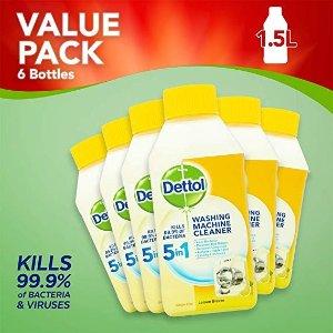 Dettol单瓶仅£2.5!洗衣机消毒液柠檬味 6瓶