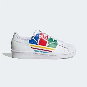AdidasSuperstar Pure 彩色三叶草贝壳头