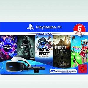 索尼 PlayStation4 (PS4 )VR 5游戏同捆套装 超值6.6折特价