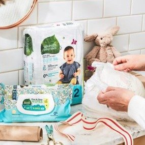 30% off + extra 5% offSeventh Generation Baby Diapers & Wipes @ Amazon