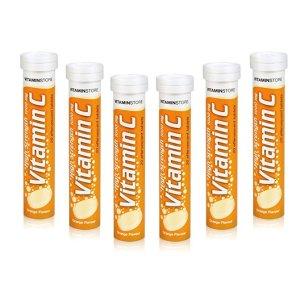 Vitamin Store1000mg高强度泡腾片 120片橙味 6盒