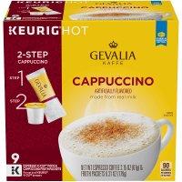 Gevalia 卡布奇诺 k-cups 含泡沫粉包 36份装