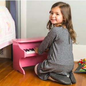 $32.99 + Free ShippingKids 25-Key Wooden Learn-to-Play Mini Piano w/ Key Note Stickers, Music Book