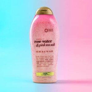 $5.97(原价$6.97)OGX 海盐玫瑰身体磨砂577ml 细腻海盐颗粒打造光滑美肌