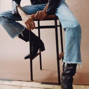 7折!纯白牛仔裤£76Allsaints 牛仔裤专场 酷帅与质感并存 好价超划算
