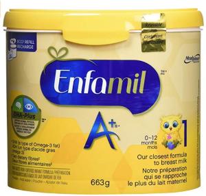 $28.47(原价$32.97)Enfamil A+ 婴儿配方1段罐装奶粉 663g