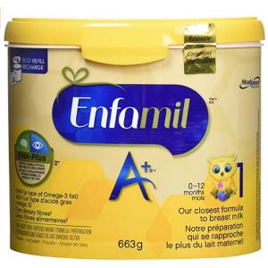 $27.54(原价$32.97)Enfamil A+ 婴儿配方1段罐装奶粉 663g