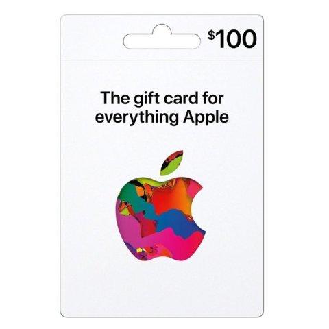 新版Apple 礼卡 $100面值,电子版+实体卡