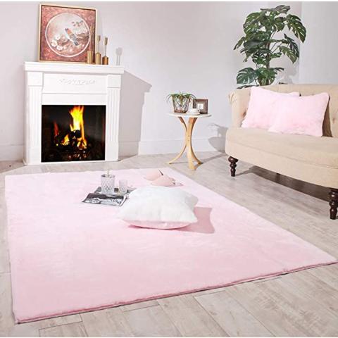 Carvapet Ultra Soft Faux Rabbit Fur Area Rug