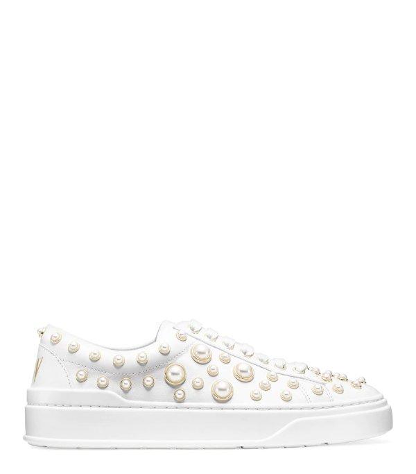 THE PEARLINE 珍珠小白鞋