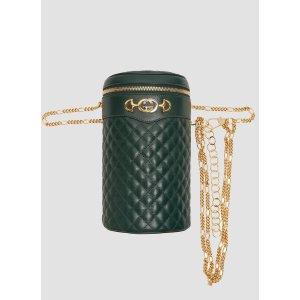 GucciQuilted Leather Chain Bag in Green