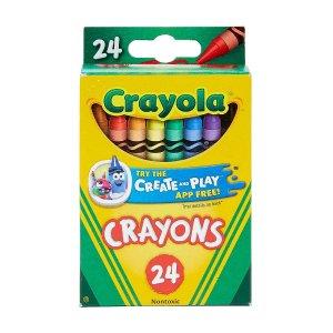 $0.5收24色儿童蜡笔Staples 办公学习用品大促