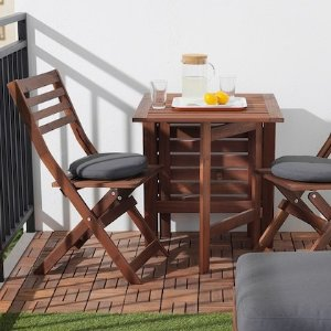 IKEA RUNNEN 防腐木质户外拼接地板9块,0.81平方米