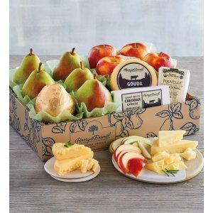 顶级甜梨+苹果+芝士礼品套装