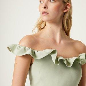 正价商品8折 收封面牛油果色美裙French Connection US 新品美衣美裙热卖