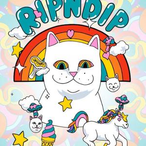 低至5折 收情侣款T恤RIPNDIP 服饰包包热卖 超火魔性可爱的小贱猫带回家