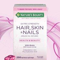 Nature's Bounty 强化版头发皮肤指甲营养胶囊, 250粒