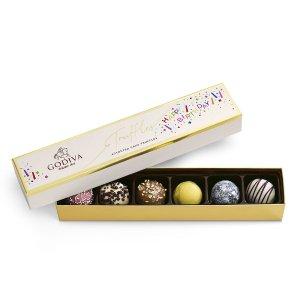 生日蛋糕松露巧克力礼盒 6颗