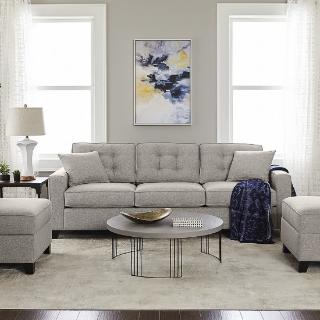 $599 (原价$1149)Furniture Clarke II 93 布料软垫沙发